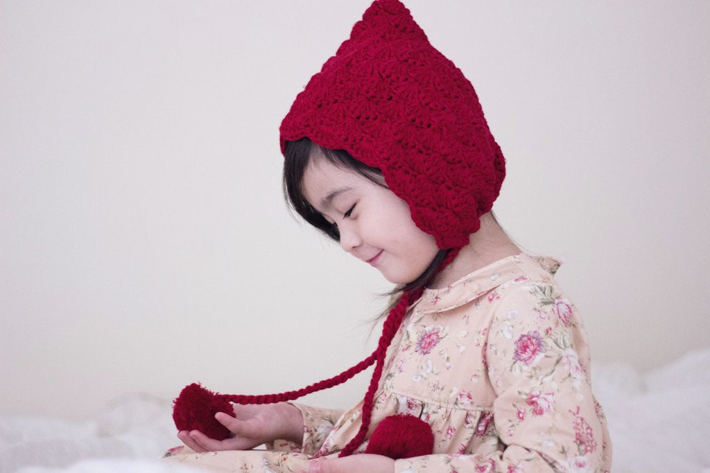 Pixie Beanie - Deep Red