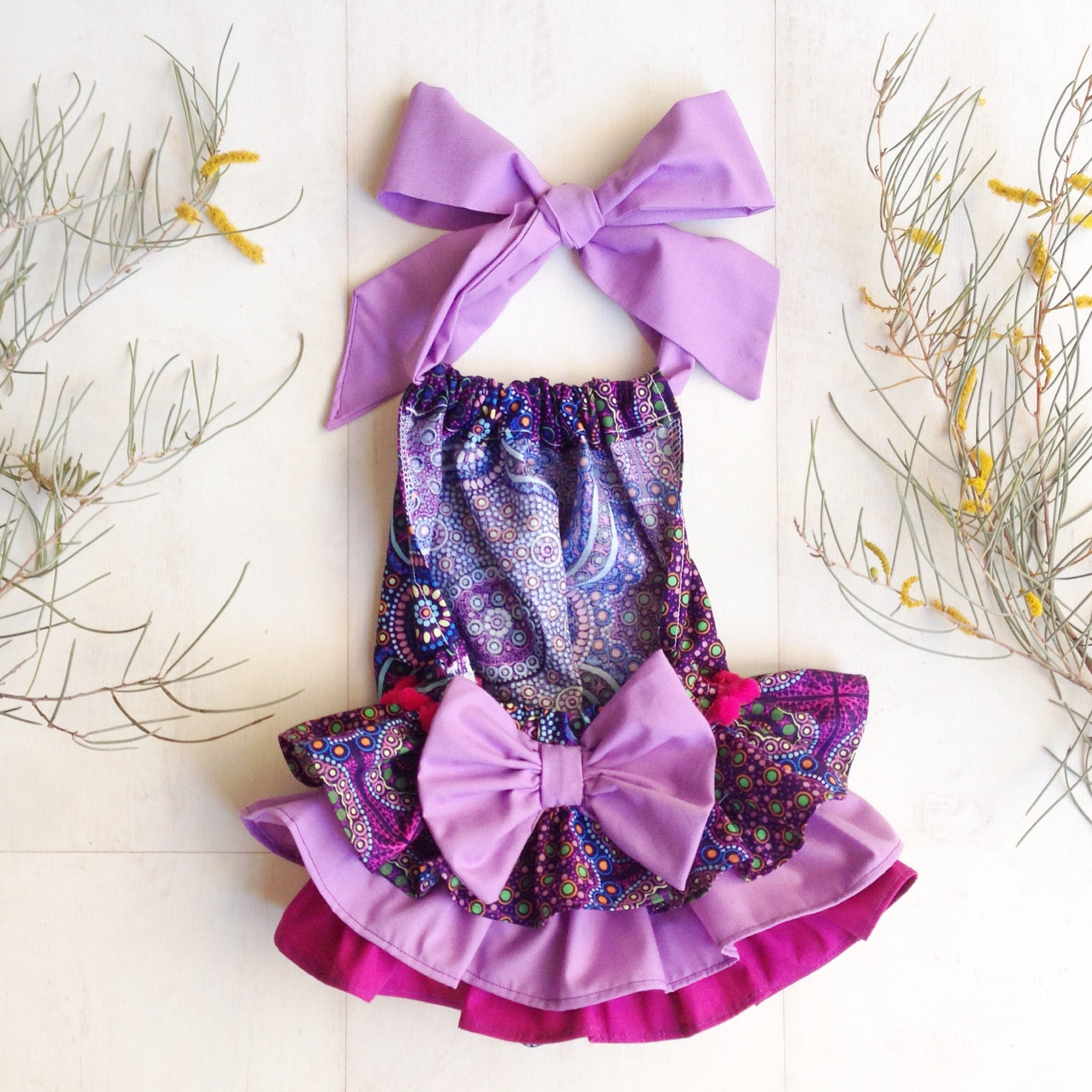 Wild Bush Flowers Sunsuit