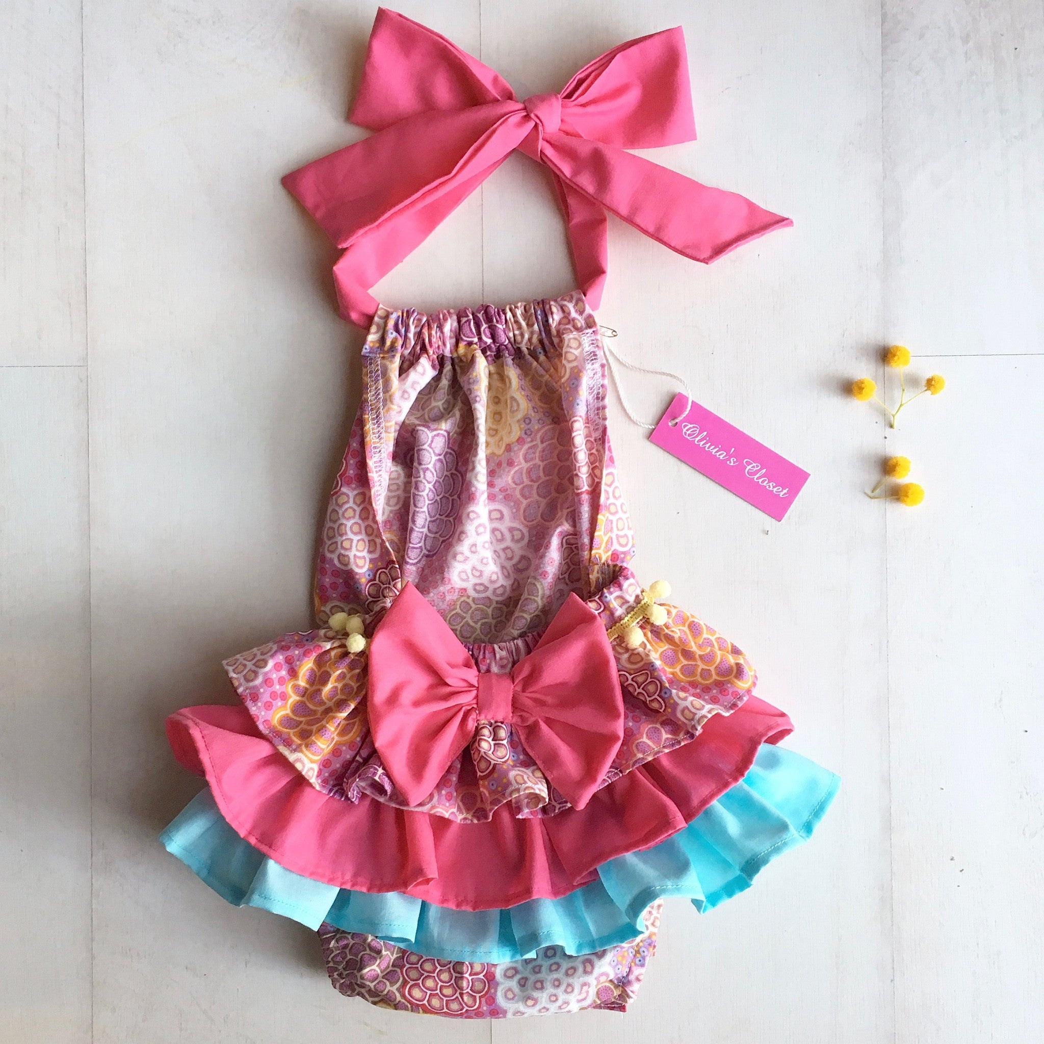 Dancing Flowers Sunsuit