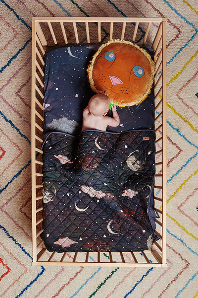AW17 KIP&CO STARRY NIGHT FITTED SHEET BABY