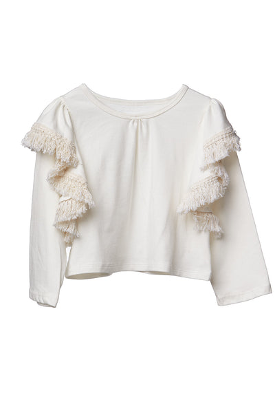 AW17 Mii Love Mu Wing Top Cream