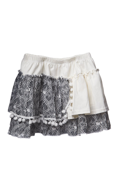 AW17 Mii Love Mu Frill Skirt - Hearts