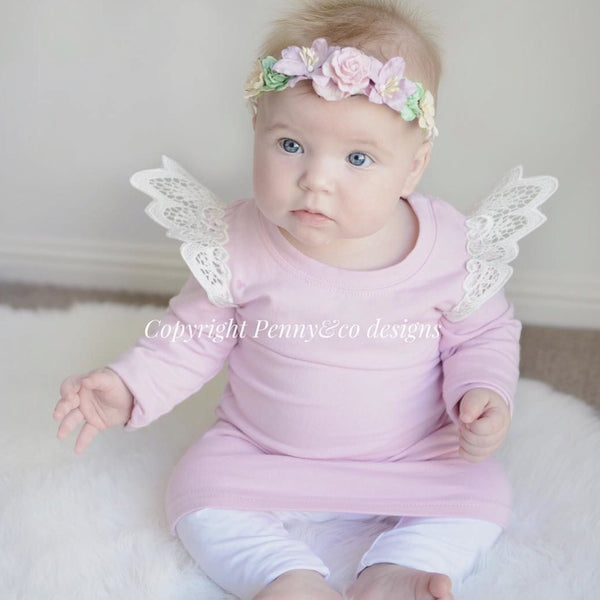Blush Angel Wing Jumper Dresses