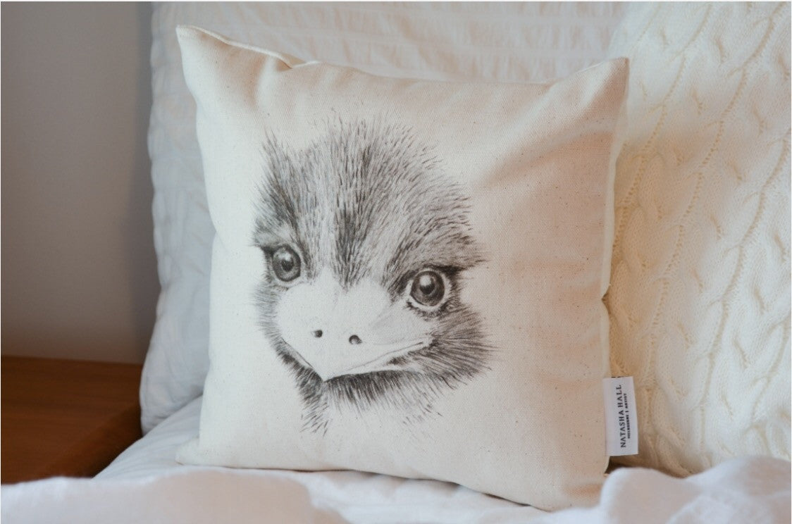 Lady Emu - Organic Cotton and Hemp Cushion