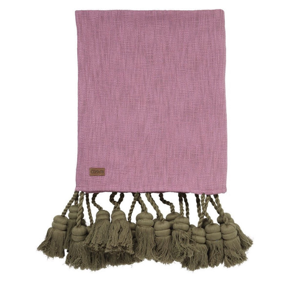 AW17 KIP&CO PINKIE GROVE TASSEL THROW