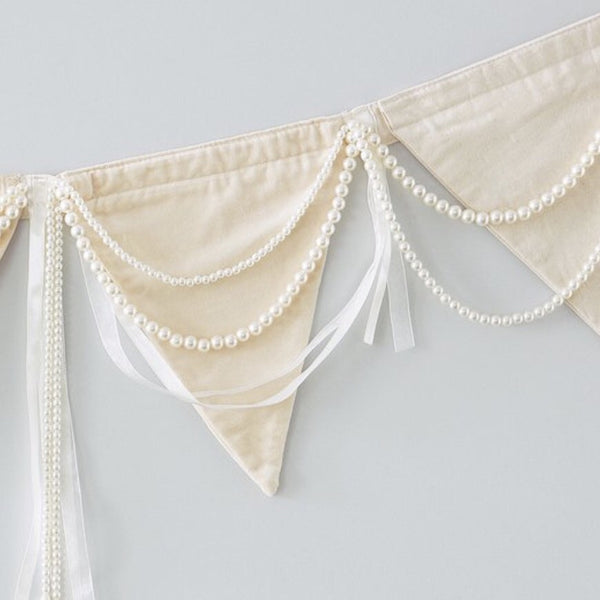 Pearl, Silk and Velvet Bunting
