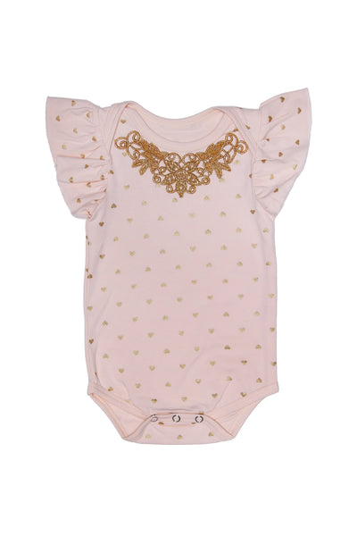 Alex and Ant Faith Heart Romper