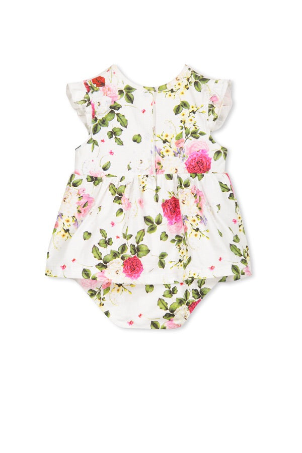 Milky Rosebloom Baby Dress