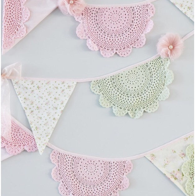 Floral and Lace Bunting