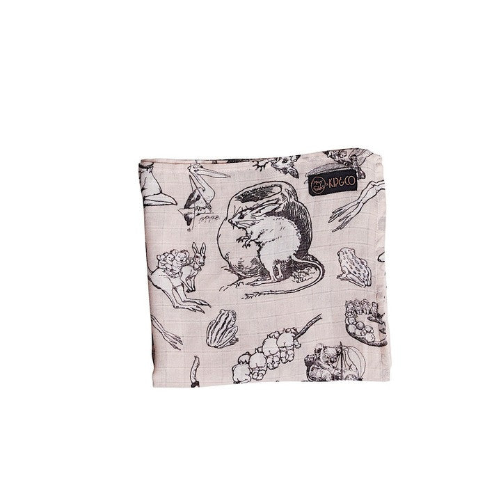 MAY GIBBS X KIP&CO PINKIE & FAMILY OF FRIENDS NAP WRAP BAMBOO SWADDLE SET