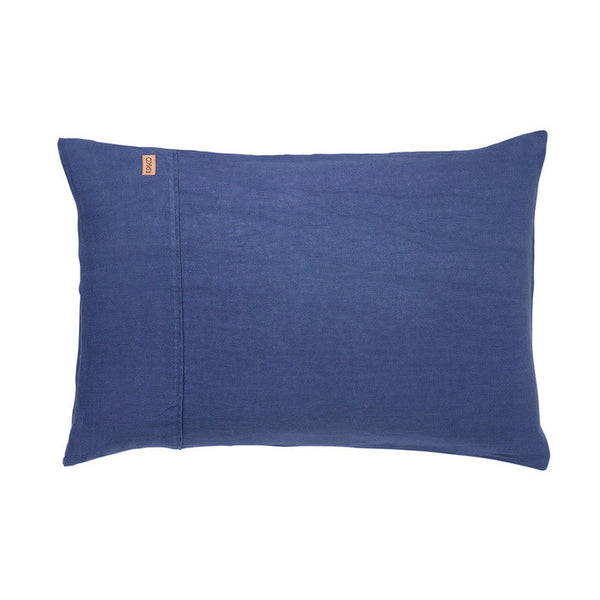 AW17 KIP&CO INDIGO LINEN PILLOWCASE SET