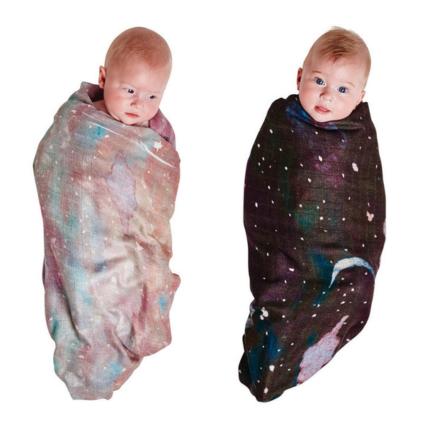 AW17 KIP&CO STARRY DAY & STARRY NIGHT BAMBOO SWADDLE SET