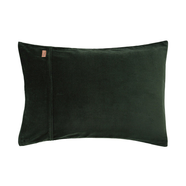 AW17 KIP&CO KOMBU GREEN VELVET PILLOWCASE SET