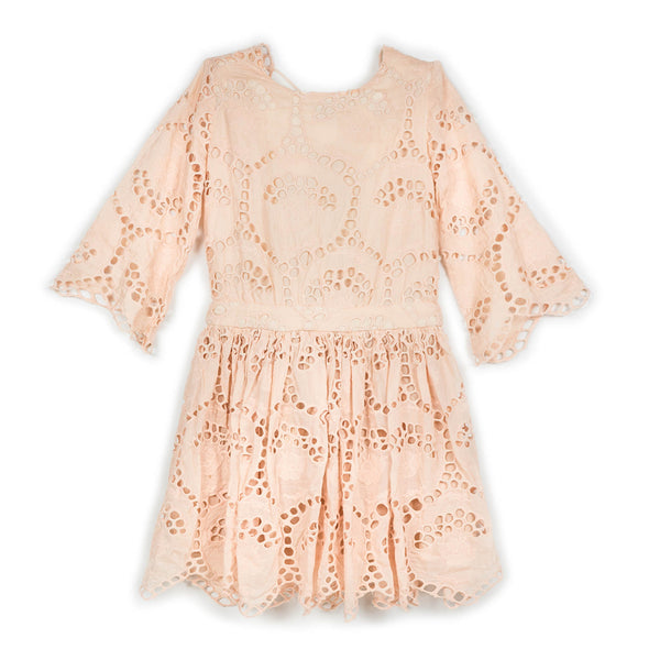 Closing Scene Cotton Dress Blush