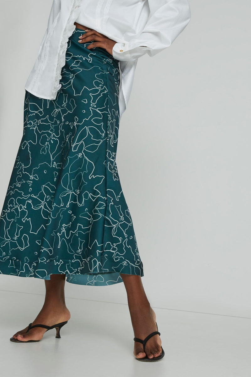 Feeling Fruity Skirt in Pine Swirl