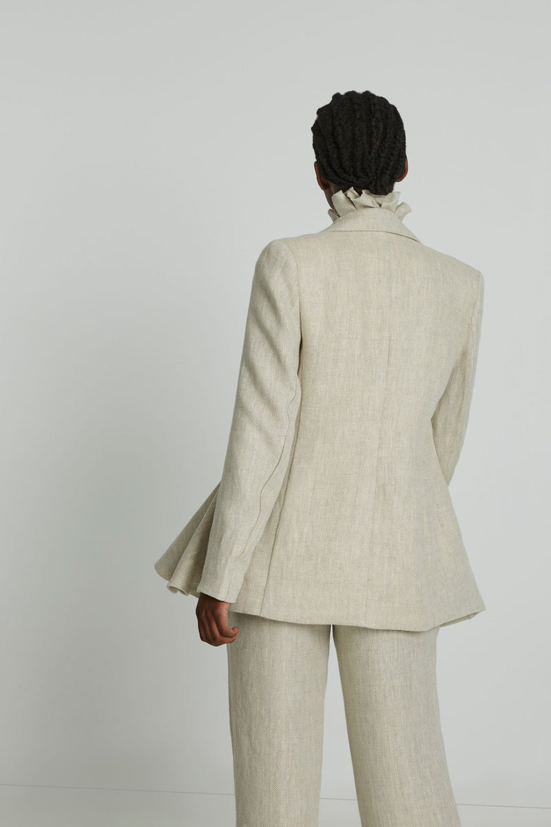 I Lead From The Heart Blazer in Beige
