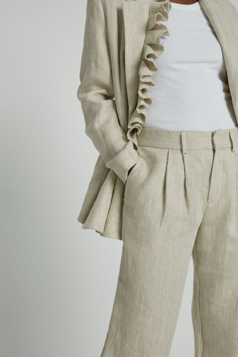 Bobbi Boyfriend Pants in Beige