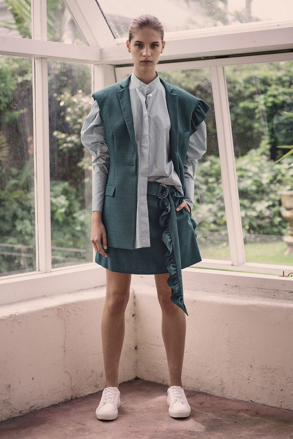 Got My Mind Made Up Skirt - Emerald