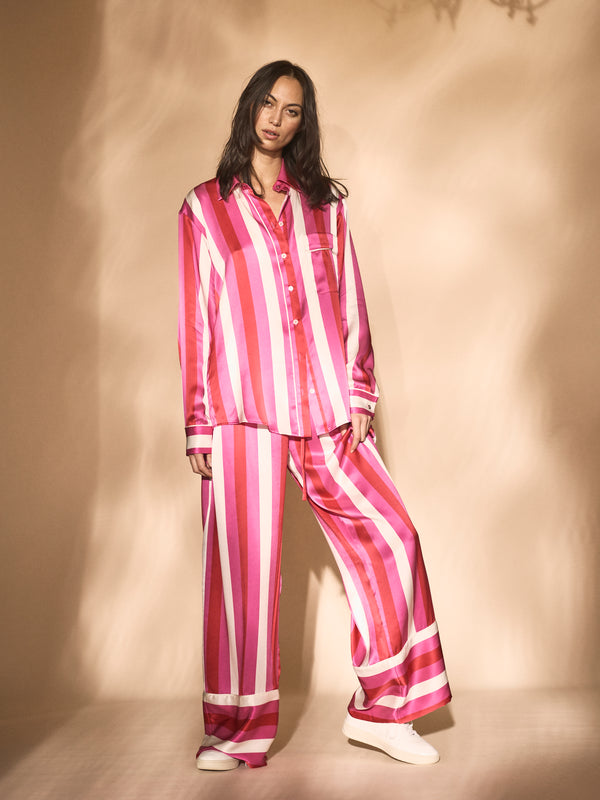 Sing Me To Sleep Pant Pink Stripe