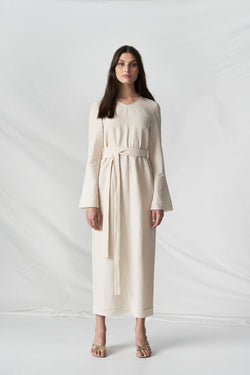 Cocktail Hour Dress Oatmeal