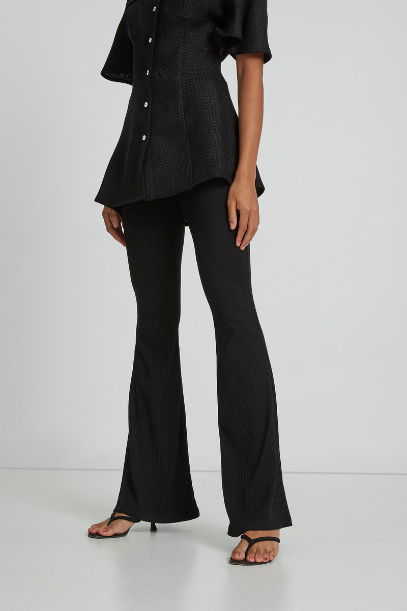 Lead With Love Trousers in Noir