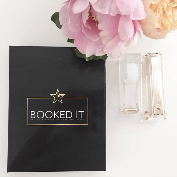 Booked It Day Planner for Performers- Actors/ Dancers/ Singers. Keepsake Gift Box.