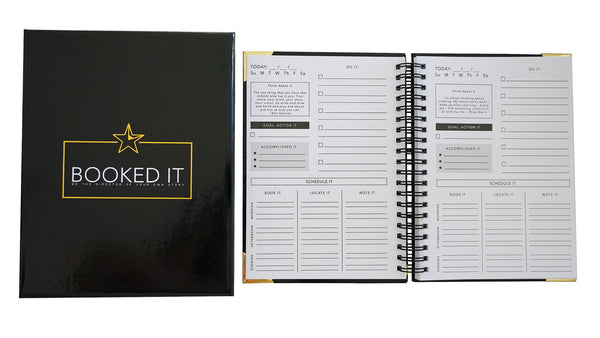 Booked It Day Planner for Performers- Actors/ Dancers/ Singers. Spiral bound.