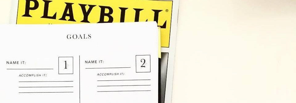 Playbill Booked It Day Planner for Performers. Actor/ Singer/ Dancer. Audition Casting Log.