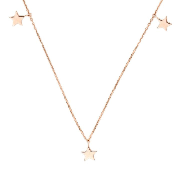 By Charlotte Rose Gold Star Bright Necklace