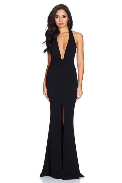 Nookie Mariah Halter Gown Black
