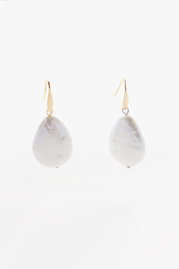 Reliquia Oversized Keshi Pearl Earrings
