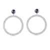 F + H Jewellery The Bianca Large Hoop Earrings Sterling Silver