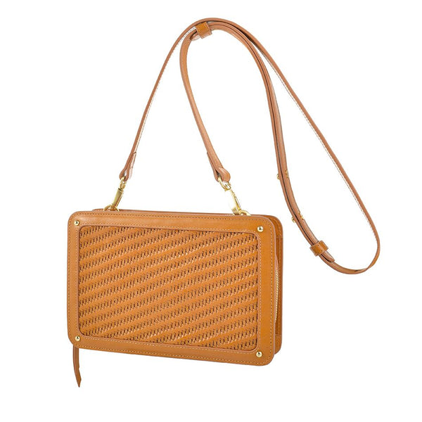 Sancia The Elodie Clutch Cognac