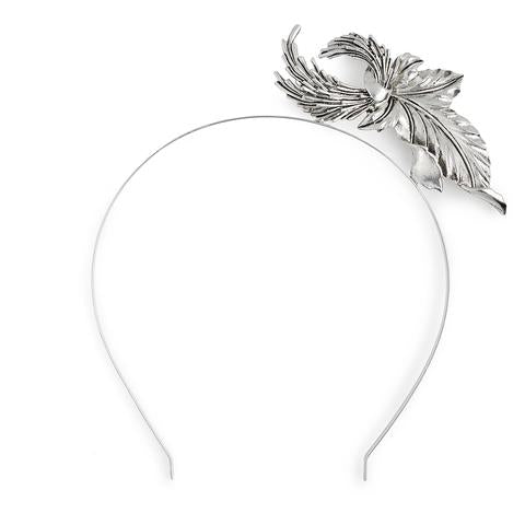 Kitte Heart of Glass Headpiece Silver