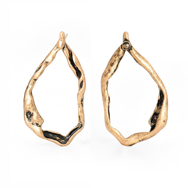 Luxe Essentials The Circa Earrings Antiqued Gold