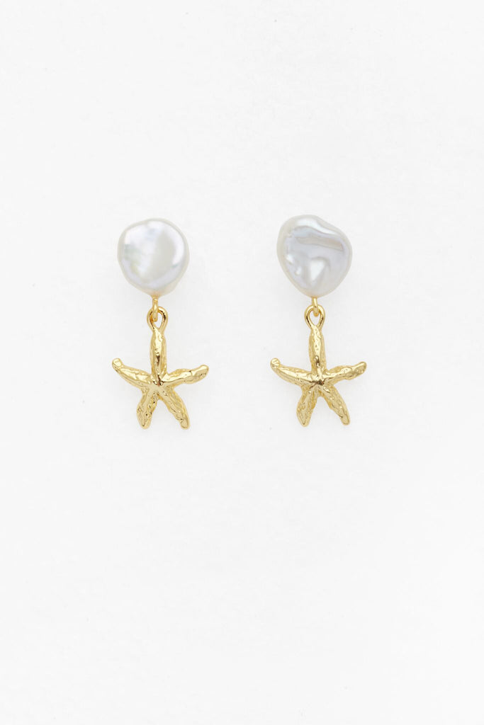 Reliquia Petite Starfish and Pearl Earrings