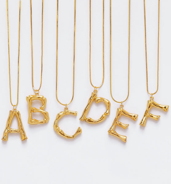 Luxe Essentials Initials Necklace A - F