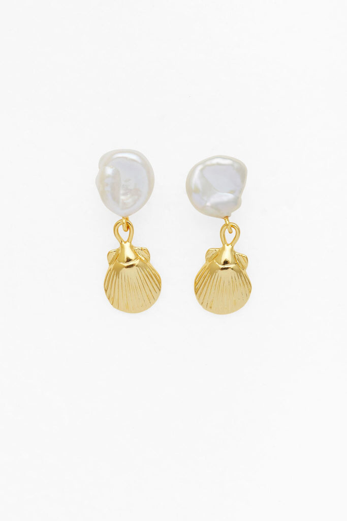 Reliquia Petite Seashell and Pearl Earrings