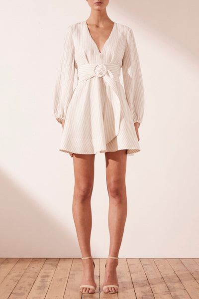 Shona Joy Isadora Plunge Mini Dress