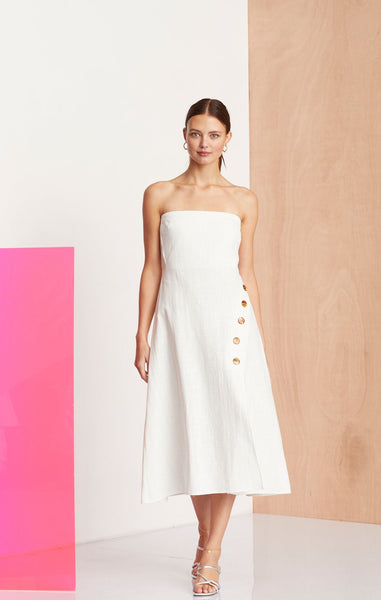 Bec & Bridge Nathalie Midi Dress Ivory