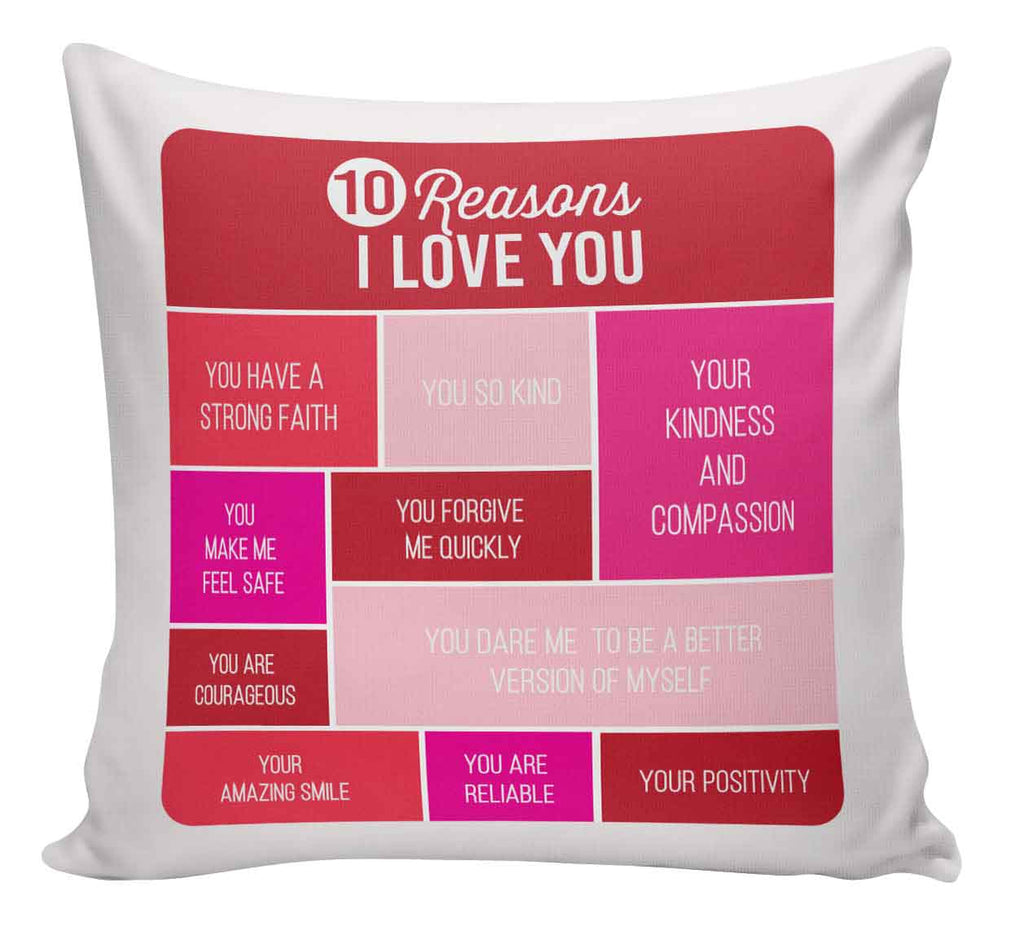 SCATTER PILLOW | 10 REASONS I LOVE YOU - Georgie & Moon
