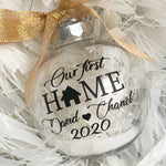 our first home bauble