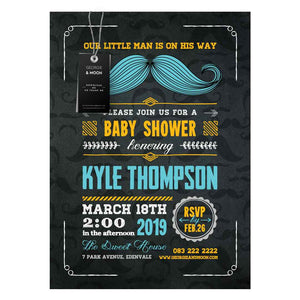BABY SHOWER CHALKBOARD MUSTACHE INVITATION - Georgie & Moon