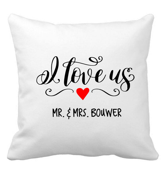 Well-known SCATTER PILLOW I LOVE US & YOUR PERSONALIZED NAME – Georgie & Moon ZC63
