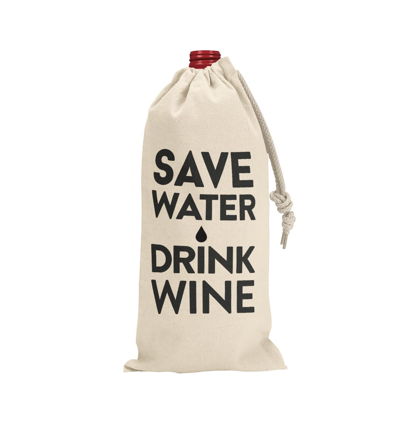 SAVE WATER DRINK WINE WINE BAG - Georgie & Moon