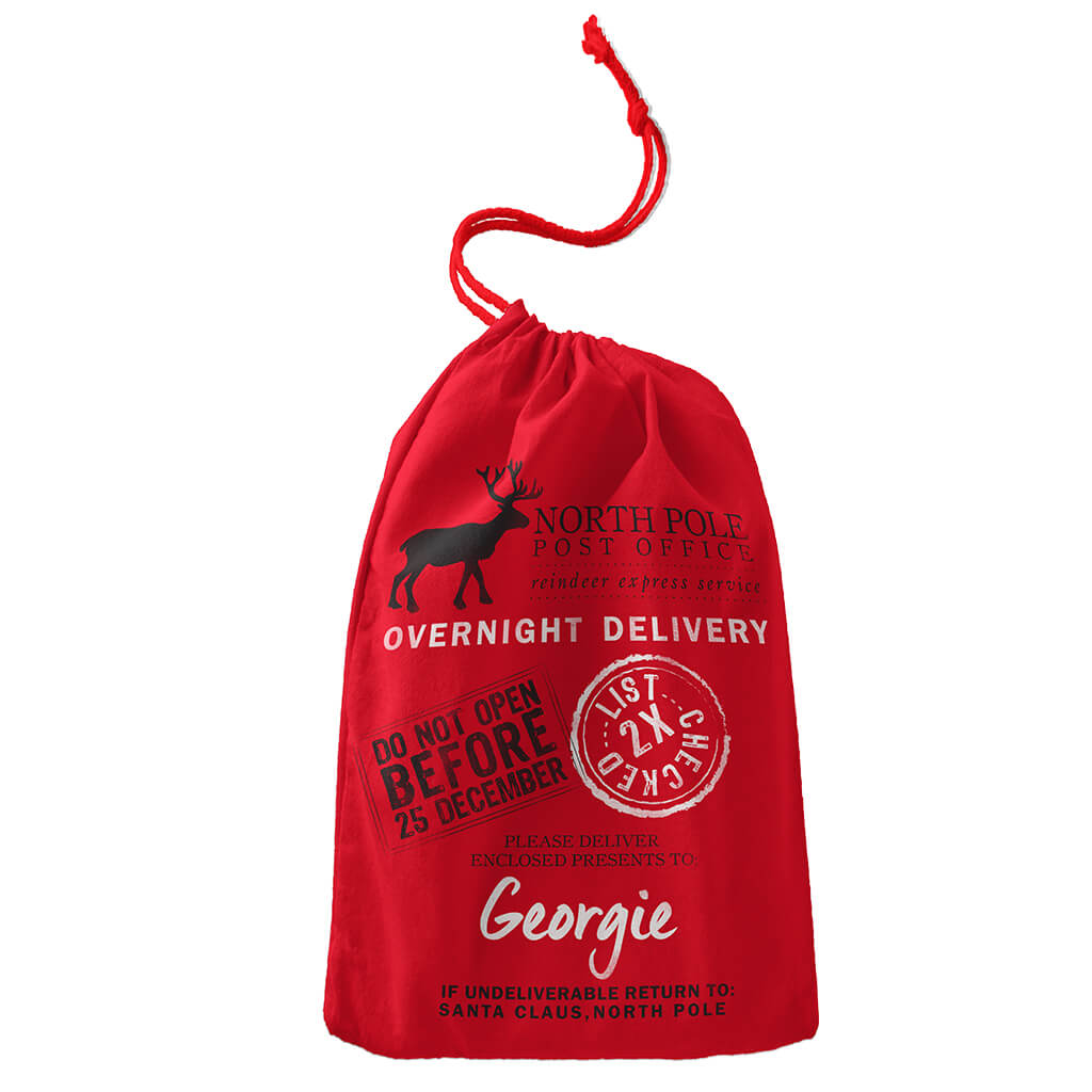 SANTA BAG - PERSONALISED CHRISTMAS BAG SB0045 - Georgie & Moon