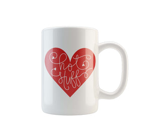 MUG VALENTINE HOT STUFF HEART - Georgie & Moon