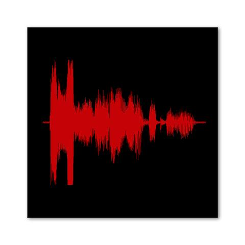 PERSONALISED SOUND WAVE VOICE ART ON CANVAS - I LOVE YOU - Georgie & Moon