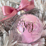 8 CM CHRISTMAS BAUBLE - BABY BAUBLE