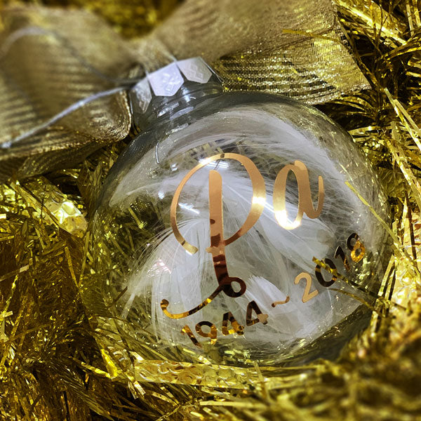 8 CM CHRISTMAS BAUBLE - IN MEMORY OF